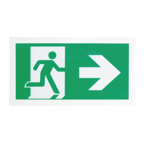 Elphinstone Single Sided Emergency Exit Sign Light